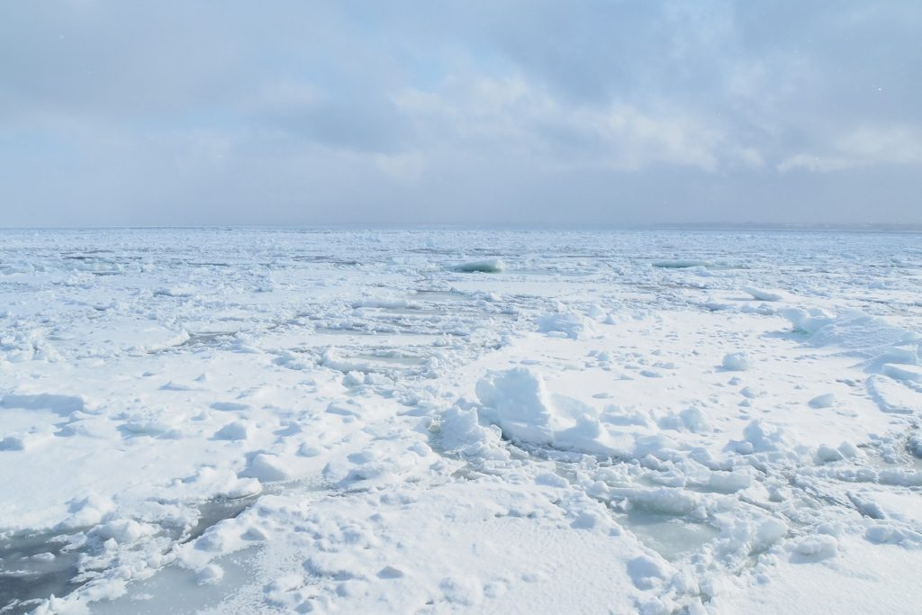 砕氷船と流氷