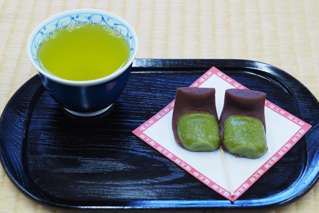 三嶋大社と福太郎餅お茶セット