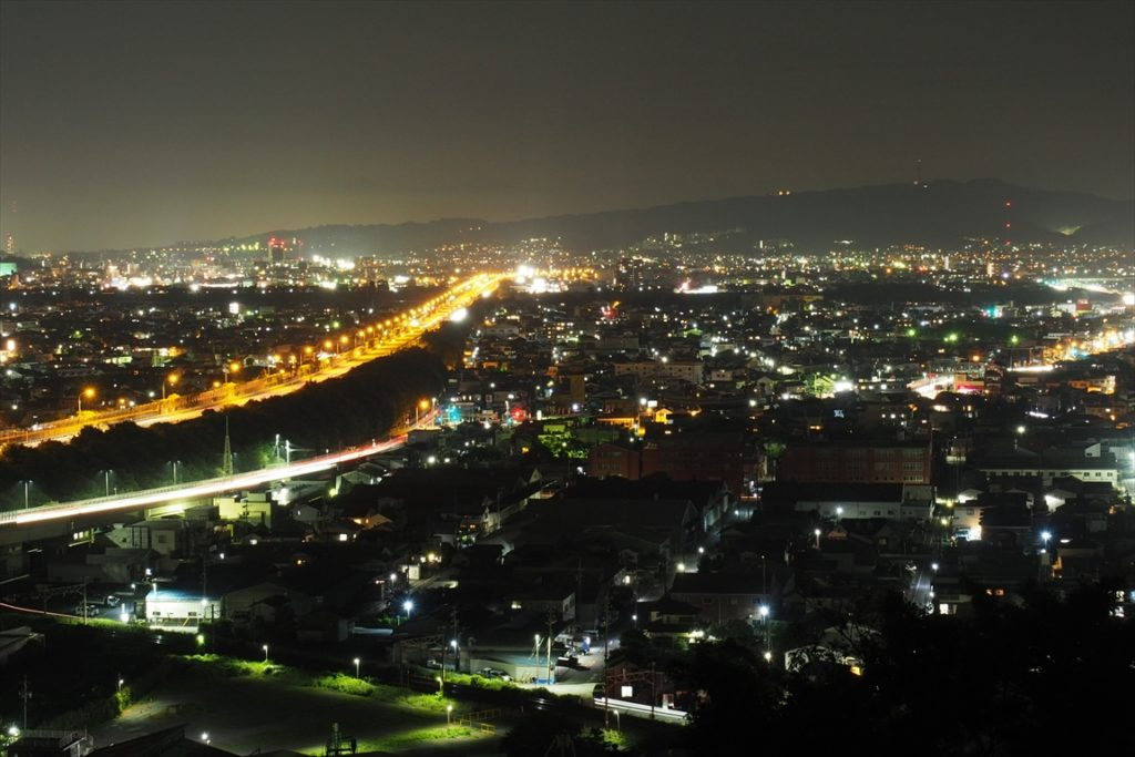 持舟城址の夜景2