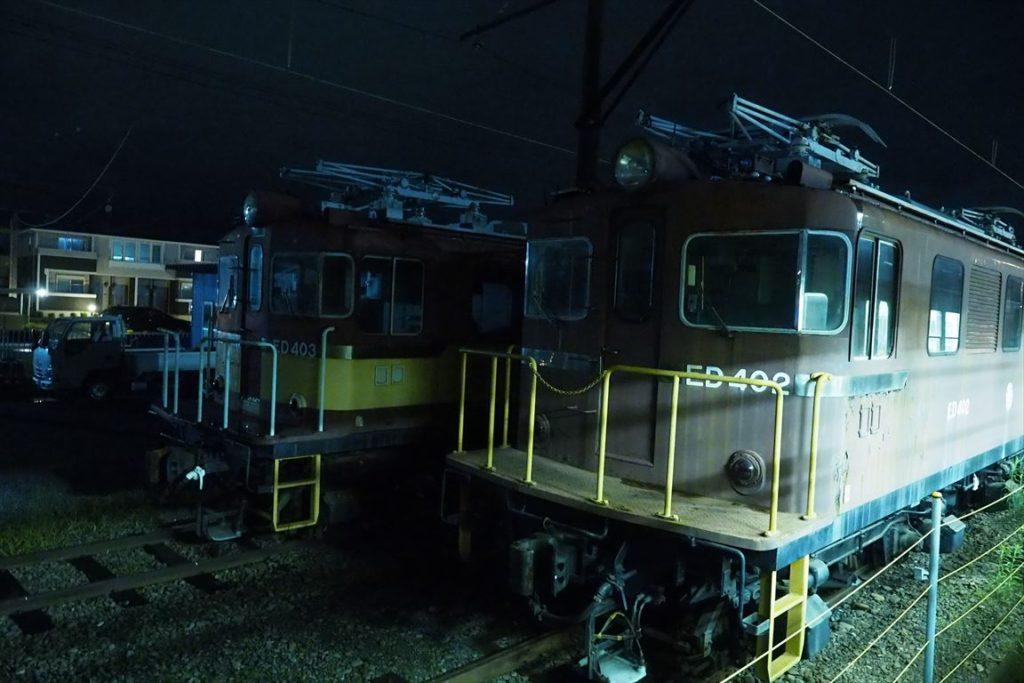 比奈駅の機関車
