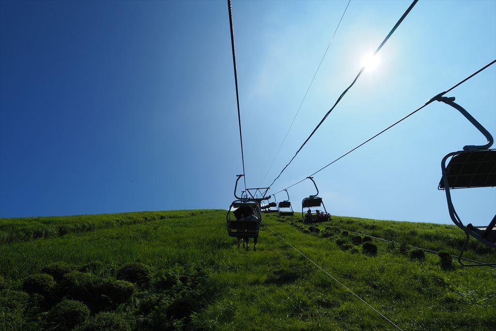 大室山リフト登りの景色